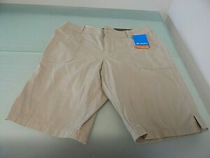 NEW Columbia Women 10-11L Beige Khaki Style Shorts Relaxed Fit Omni-Shade UPF 50
