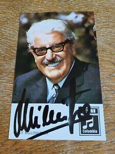 Willy Millowitsch Autogramm, original Unterschrift, zeitgemäße Erhaltung