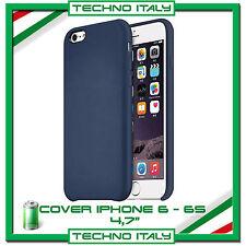 Custodia Cover Ultra Sottile Slim in simil pelle BLU per Apple iPhone 6 6s