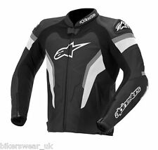 Alpinestars GP Pro Black/White/Grey Leather Motorcycle Jacket - Last few