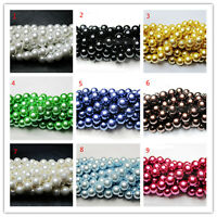 100Pcs Czech Glass Pearl Round Beads Spacer Jewelry Making 4/6/8/10mm