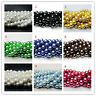 100Pcs Czech Glass Pearl Round Beads Spacer Jewelry Making Gift 4/6/8/10mm DIY
