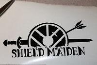 Shield Maiden, VIKING, vinyl decal