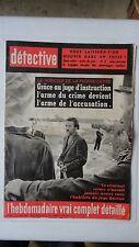 REVUE DETECTIVE N°844 PIERRE LEVEE JULIETTE GRECO SAMPIERRI TOULON SCHIRRHEIN