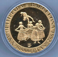 España 1991 Olimpiada Barcelona 80.000 Pesetas oro @ 3ª Serie @El Pelele @ PROOF
