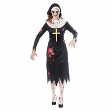 Amscan Adulto Disfraz De Monja Zombie medio hermana no-muertos Halloween Vestido de fantasía