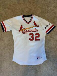Joe Magrane Cardinals Game Worn Used Jersey