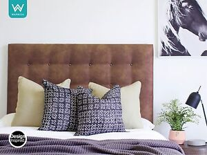 EASTWOOD Leather Look Headboard for Ensemble Bed