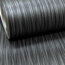 Plain Charcoal Black Dark Grey Mix Thick Free No Match Textured Wallpaper