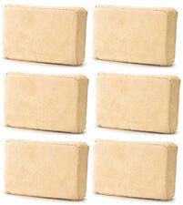 6 (Six) x Chamois Leather Sponge Pad For Demisting Car Windows