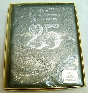 Vintage Hallmark 25 25th Silver Anniversary Keepsake Photo Photograph Album