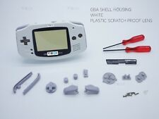 Blanco Puro Nintendo Game Boy Advance Gba Carcasa Carcasa Funda Shell Destornillador