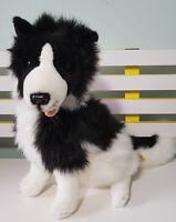 BOCCHETTA TOY PLUSH TOY DOG BORDER COLLIE! GORGEOUS VERY LIFELIKE! 37CM TALL!