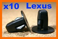 Tornillo De Nylon 10 Lexus Negro Plástico Grommet M5 montaje Sujetador Parachoques Fender