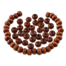 400 pcs Flat Wood loose Beads spacer beads charms Necklace findings 6x4mm
