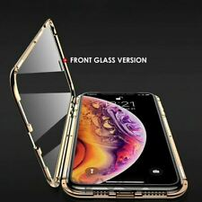 360° FRONT + BACK GLASS Magnetic Phone Metal Case For i Phone 11 PRO MAX X XR XS