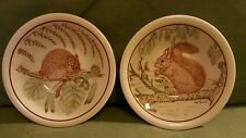 Vintage John Tams bowls Dormouse Squirrel ROYAL SOCIETY FOR NATURE CONSERVATION