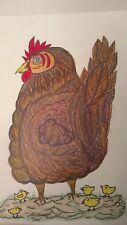 MOMA HEN And Chicks  Chicken Original Art