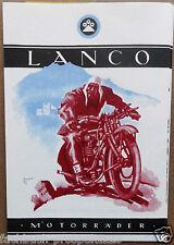 LANCO MOTORRÄDER WIEN 1924-26 PROSPEKT MODELL A 50 O ÖSTERREICH VORKRIEG