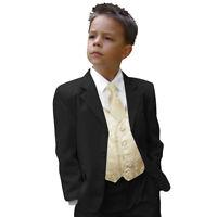 Paul Malone Kinderanzug Jungen schwarz 5tlg Hochzeit Anzug