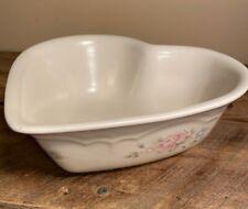 Pfaltzgraff Tea Rose Bowl Heart Shaped Stoneware Serving Dish - Beautiful