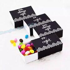 12pcs Wedding Party Black White Bomboniere Favour Boxes / Lolly Boxes.