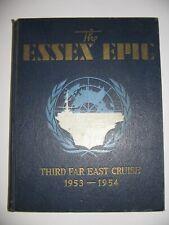 Uss Essex (Cva-9) 1953 1954 Far East Deployment Cruise Book Cruisebook