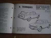 REVUE TECHNIQUE auto expertise SIMCA 1300 - 1500 berlines et breaks