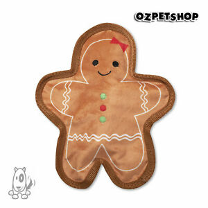 Christmas Holiday Gingerbread Girl Stuffing Free Dog Toy - Fringe Studios