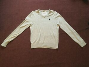 """ABERCROMBIE & FITCH  MENS  GREY  JUMPER       (36"""" CHEST)"""