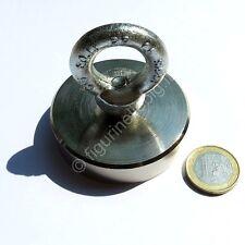 Super Magnete al Neodimio OTN-60 Full Surface POT 130 Kg OCCHIELLO IN ACCIAIO