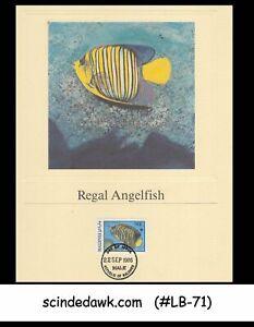 MALDIVES - 1986 FISH / WORLD WILDLIFE FUND - PROOF CARD  FDI 4nos