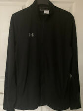 Mens Under Armour Track Top. Clearance No Faults. New Black Size Large.