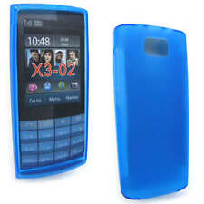 Blue Jelly Case Cover Gel Skin for Nokia X3-02 X3 + SP