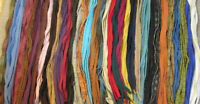 Many Colors Mix 200 hand & mill dyed  #8 Primitive Rug Hooking Cut Wool Strips