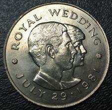 1981 BAILIWICK of JERSEY -TWO POUNDS - COPPER-NICKEL-Elizabeth II-ROYAL WEDDING