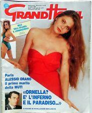 RIVISTA MAGAZINE GRAND HOTEL N.28 1990 ORNELLA MUTI STEFANIA DI MONACO