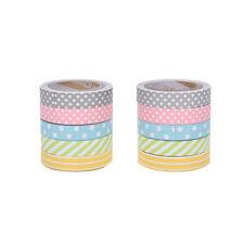 5X 5M DIY Paper Sticky Adhesive Sticker Decorative Scrapbooking Washi Tape BH