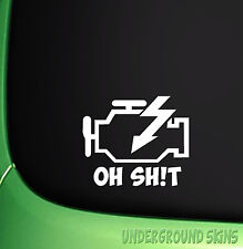 ENGINE HAZARD WARNING FUNNY CAR STICKER JDM STICKERS