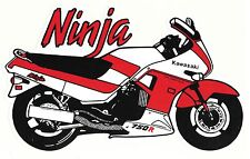 NINJA 750 R ZX 1986-1990 Sport bike Decal Motorcycle Sticker Sportbike Racing