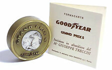 FERMACARTE IN OTTONE OLD PAPERWEIGHT - GOOD YEAR GRAND PRIX S - G. TRECCHI 1950