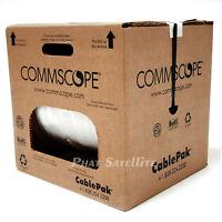 CommScope F660BVV UL ETL Rated CablePk 1000' Bulk RG6 Coax Cable Satellite White