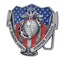 United States US Marine Corps Belt Buckle - Semper Fi - USMC Military Uniform