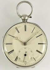 Antique Sterling Silver Doctor's Fusee Lever Pocket Watch M.Young Newcastle 1848