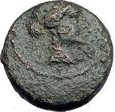 SARDES in Lydia 133BC Authentic Ancient Greek Coin APOLLO & HERCULES CLUB i62677