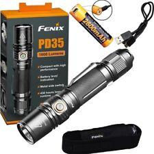 Fenix PD35 V2.0 LED Flashlight 1000 Lumen 2600mAh USB Rechargeable 18650 Battery