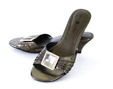 Lindsay Phillips Switchflops Sharyn GOLD Slide Snap Shoe Sandals Size 5M