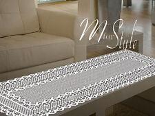 """Lace Tabella Runner Bianco oblunghi di alta qualità 18"""" x 43"""" (50cm x 110cm)"""