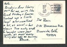 Italy 1967 Brindisi post card US Navy attack cargo ship USS Yancey AKA-93