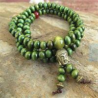 6MM green sandalwood wooden bead 108 Beads Hot mala Unisex spirituality MONK